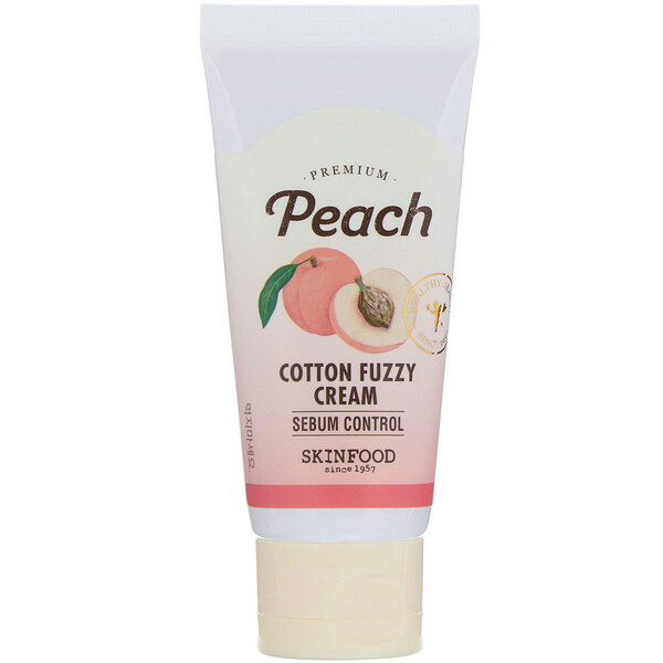 Skinfood, Premium Peach, Cotton Fuzzy Cream, 60 ml