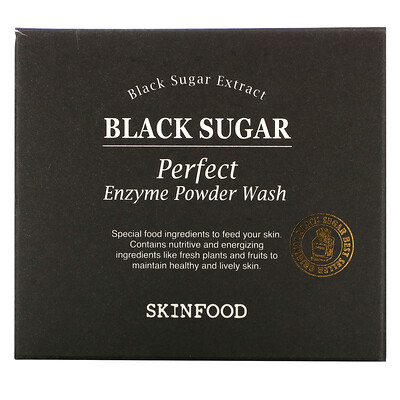 Skinfood Black Sugar Perfect Enzyme Powder Wash, 30 Packets, 0.04 fl oz (1.2 g) Each