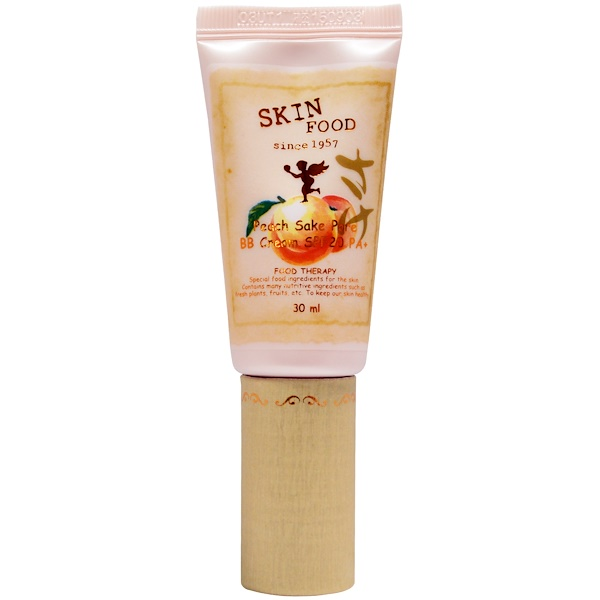 Skinfood, Peach Sake Pore BB Cream SPF20 PA+, Natural Beige, 30 ml (Discontinued Item)