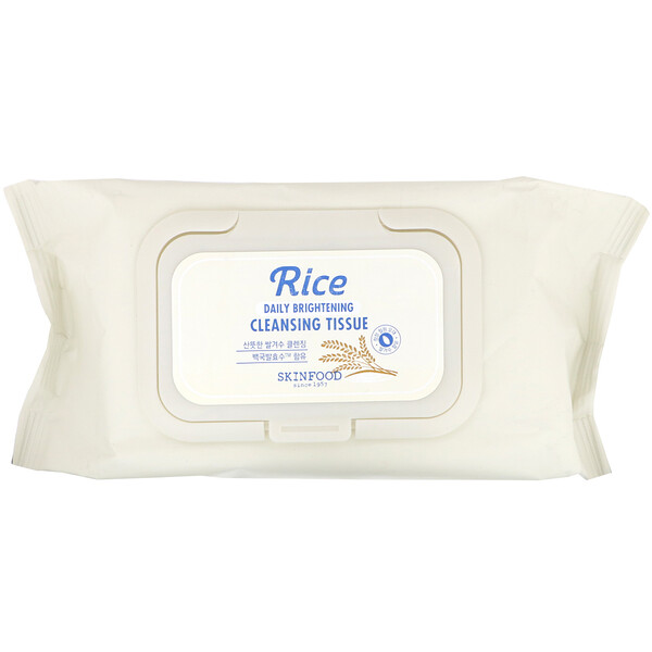 Rice Daily Brightening Cleansing Tissue, 80 Sheets, 12.84 fl oz (380 ml)