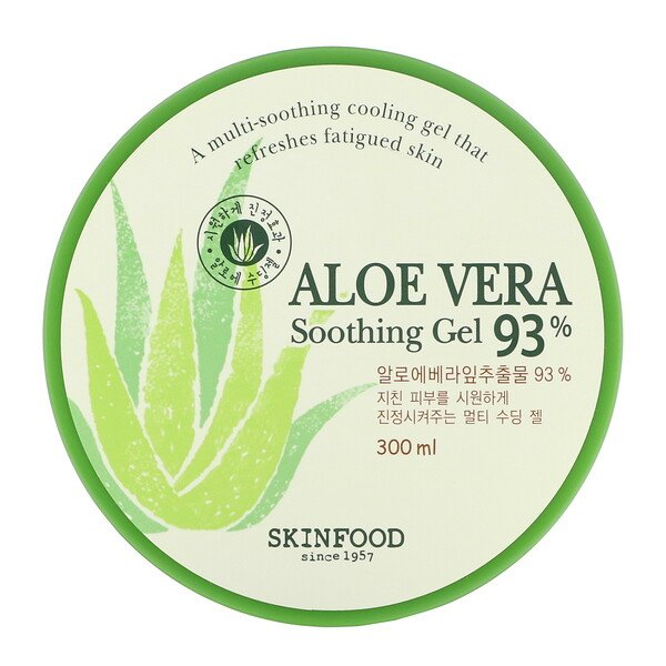 Skinfood, Aloe Vera 93% Soothing Gel, 300 ml