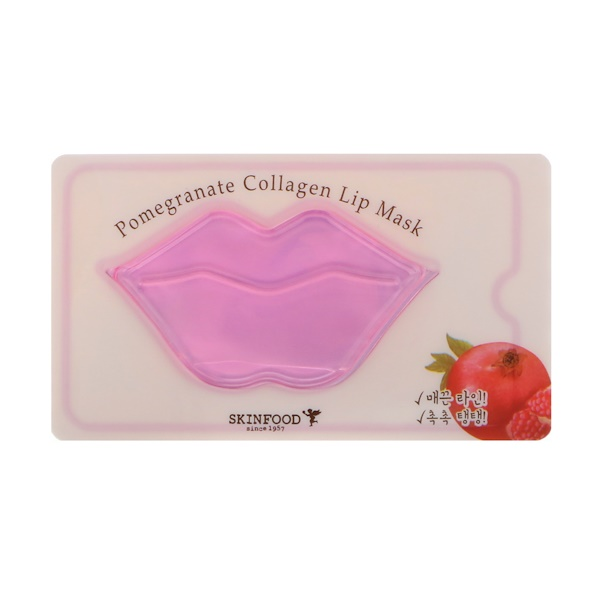 Skinfood, Pomegranate Collagen Lip Mask, 1 Sheet, 0.28 oz (8 g) (Discontinued Item)