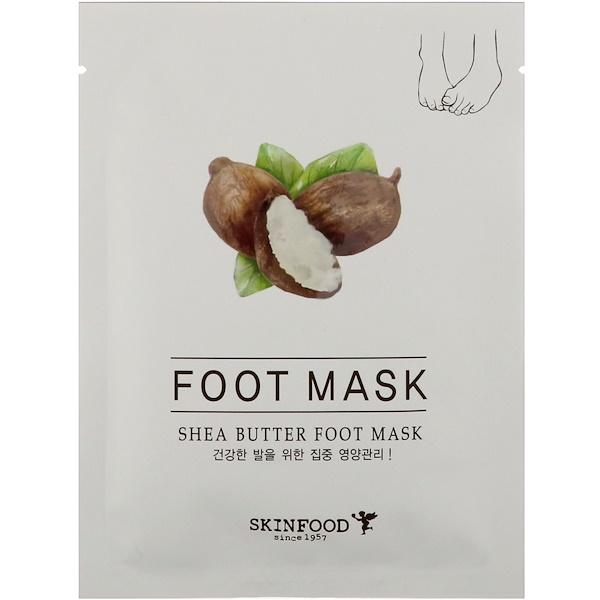 Skinfood, シアバター・フットマスク、0.54液量オンス (16 ml) (Discontinued Item)