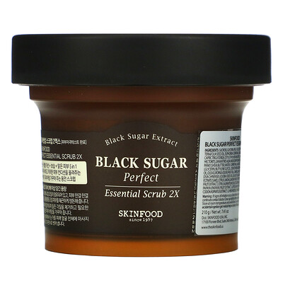 Skinfood Black Sugar Perfect Essential Scrub 2X, 7.41 oz (210 g)