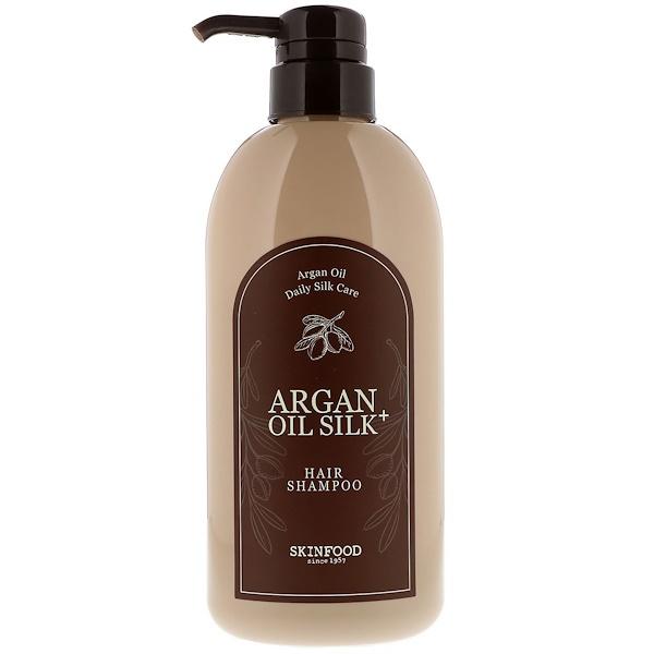 Skinfood, Argan Oil Silk Plus, Hair Shampoo, 16.09 fl oz (500 ml) (Discontinued Item)