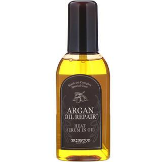 Skinfood, Масло-сыворотка для волос с аргановым маслом, восстановление и защита, 100 мл (3,38 жидк.унций)