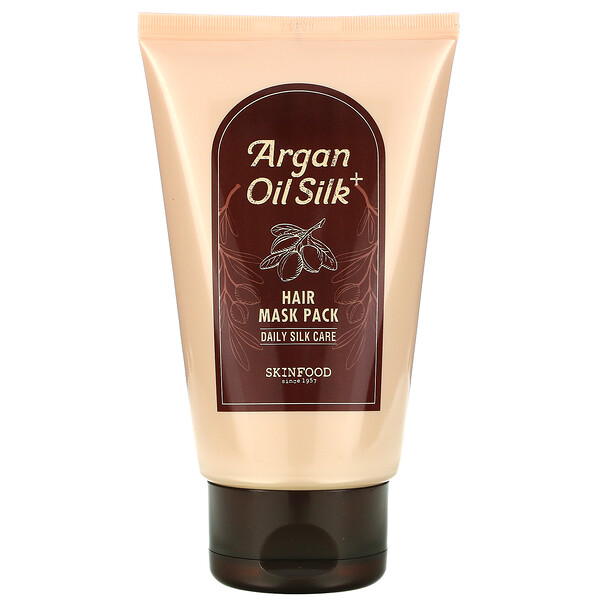Skinfood, Argan Oil Silk Plus Hair Mask Pack, 6.76 fl oz (200 g)
