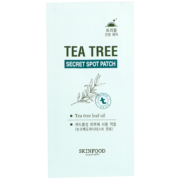 Skinfood, Tea Tree Secret Spot Patch, 1 Sheet (Discontinued Item)
