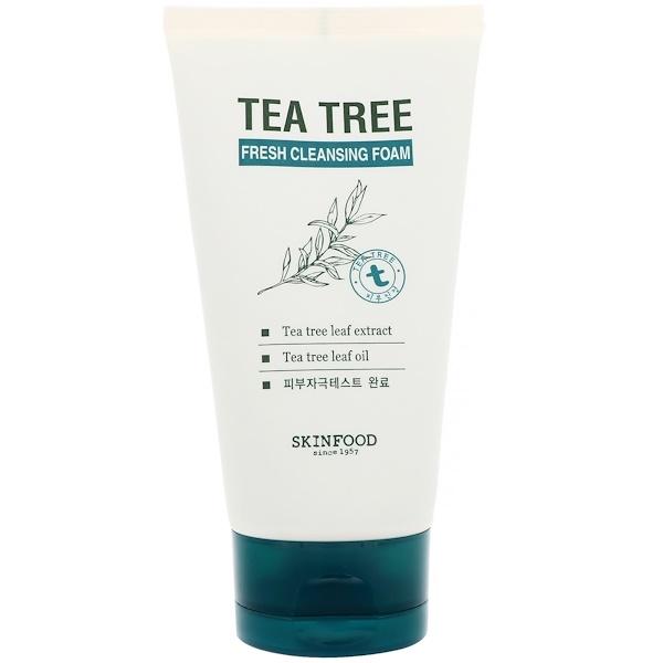 Skinfood, Освежающая чистящая пенка с чайным деревом, 5,07 ж. унц. (150 мл) (Discontinued Item)