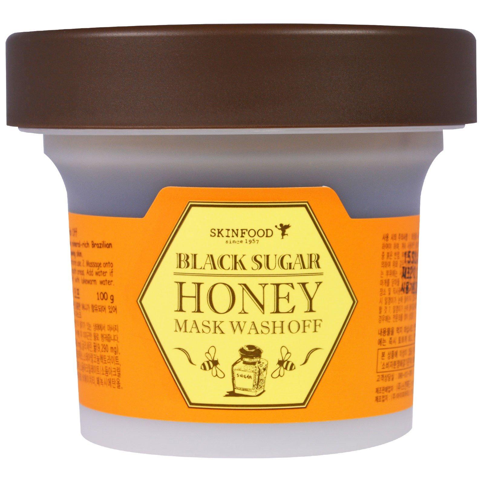 Skinfood, Смываемая маска с черным сахаром и медом, 3.5 унции (100 г)