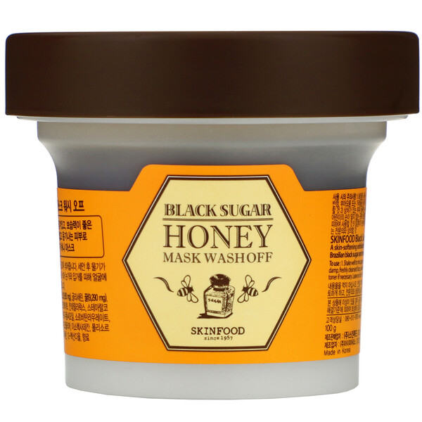 Black Sugar Honey Mask Wash Off, 3.5 oz (100 g)
