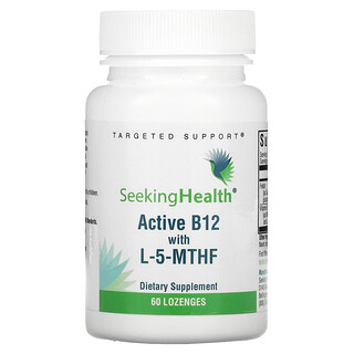Seeking Health, Active B12 With L-5-MTHF, 60 Lozenges