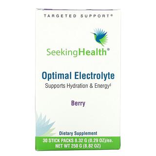 Seeking Health, Optimal Electrolyte, Berry, 30 Stick Packs, 0.29 oz ( 8.32 g) Each