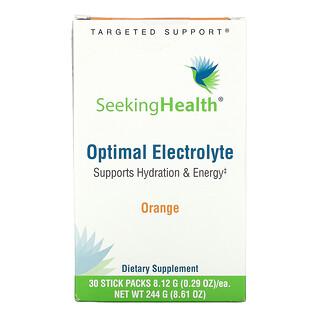 Seeking Health, Optimal Electrolyte, Orange, 30 Stick Packs, 0.29 oz (8.12 g) Each