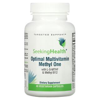 Seeking Health, Optimal Multivitamin Methly One, With L-5-MTHF & Methyl B12, 45 Vegetarian Capsules