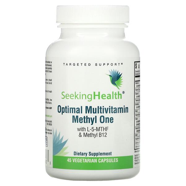 Seeking Health, Optimal Multivitamin Methly One,含 L-5-MTHF 和甲基 B12,45 粒素食胶囊