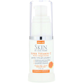 Skin By Ann Webb, Super Vitamin C with Ubiquinone, 0.5 fl oz