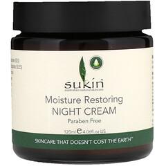 Sukin, 保濕修護晚霜,4.06液體盎司(120毫升)