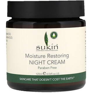 Sukin, Moisture Restoring Night Cream, 4.06 fl oz (120 ml)