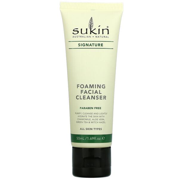 Sukin, Foaming Facial Cleanser, 1.69 fl oz (50 ml)