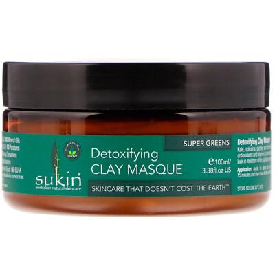Купить Sukin Super Greens, глиняная маска для выведения токсинов, 100мл (3, 38жидк.унции)