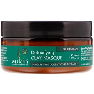 Sukin, Super Greens, Detoxifying Clay Masque, 3.38 fl oz (100 ml) - iHerb.com