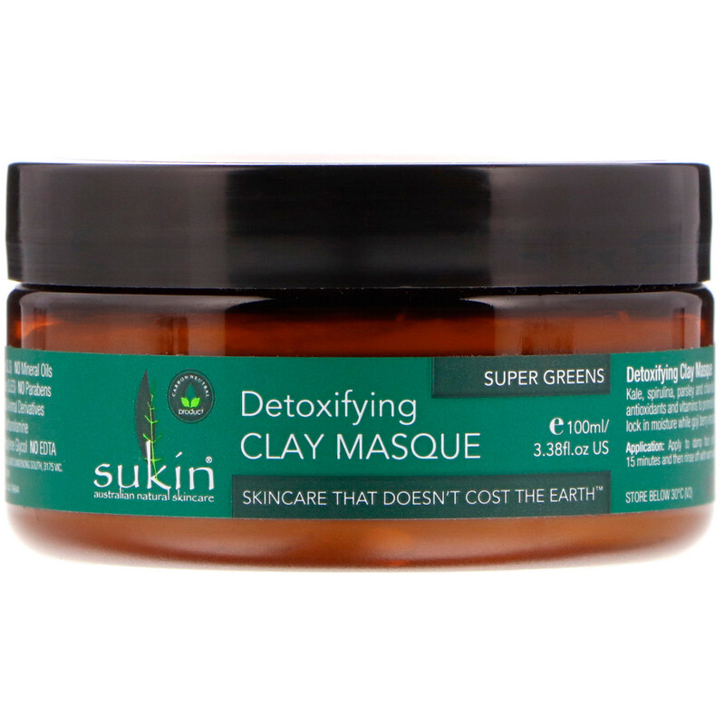 Super Greens, Detoxifying Clay Masque, 3.38 fl oz (100 ml)