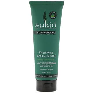 Sukin, Super Greens, Detoxifying Facial Scrub, 4.23 fl oz (125 ml)