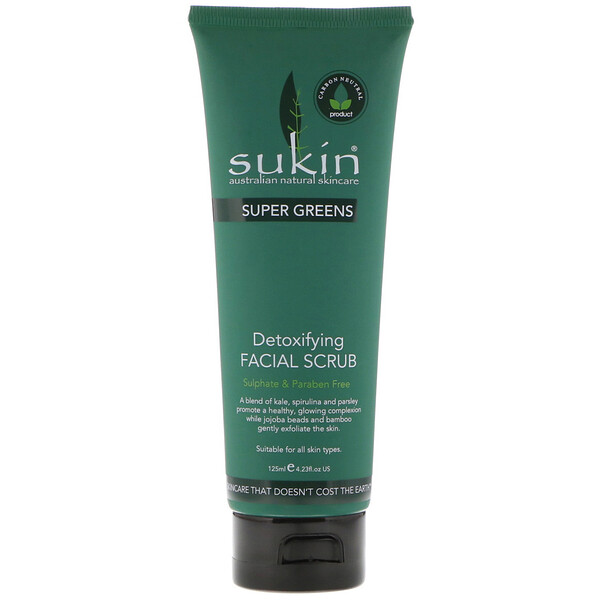 Super Greens, Detoxifying Facial Scrub, 4.23 fl oz (125 ml)