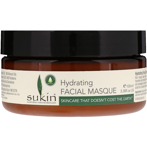 Sukin, Hydrating Facial Masque, 3.38 fl oz (100 ml)