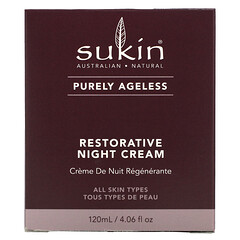 Sukin, Purely Ageless,修護晚霜,4.06 液量盎司(120 毫升)