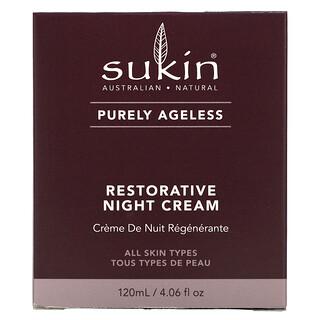 Sukin, Purely Ageless, Restorative Night Cream, 4.06 fl oz (120 ml)