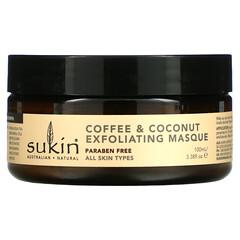 Sukin, 咖啡和椰子去角質面膜,3.38 液量盎司(100 毫升)