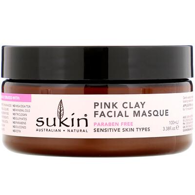 Купить Sukin Маска для лица с розовой глиной, для чувствительной кожи, 100мл (3, 38унции)