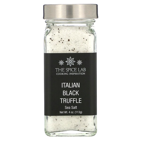 Italian Black Truffle Sea Salt, 4 oz (113 g)
