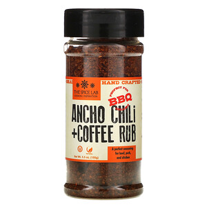 The Spice Lab, Ancho Chili + Coffee Rub, 5.5 oz ( 155 g)