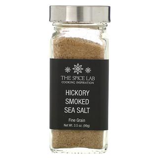 The Spice Lab, Hickory Smoked Sea Salt, Fine Grain, 3.5 oz (99 g)