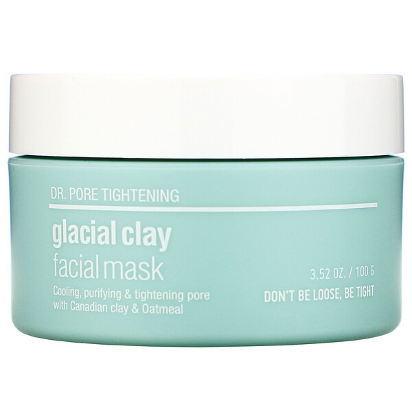 Dr. Pore Tightening, Glacial Clay Facial Mask, 3.52 oz (100 g)