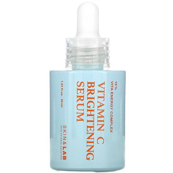 Skin&Lab, 維生素 C,潔白精華,1.01 盎司(30 毫升)