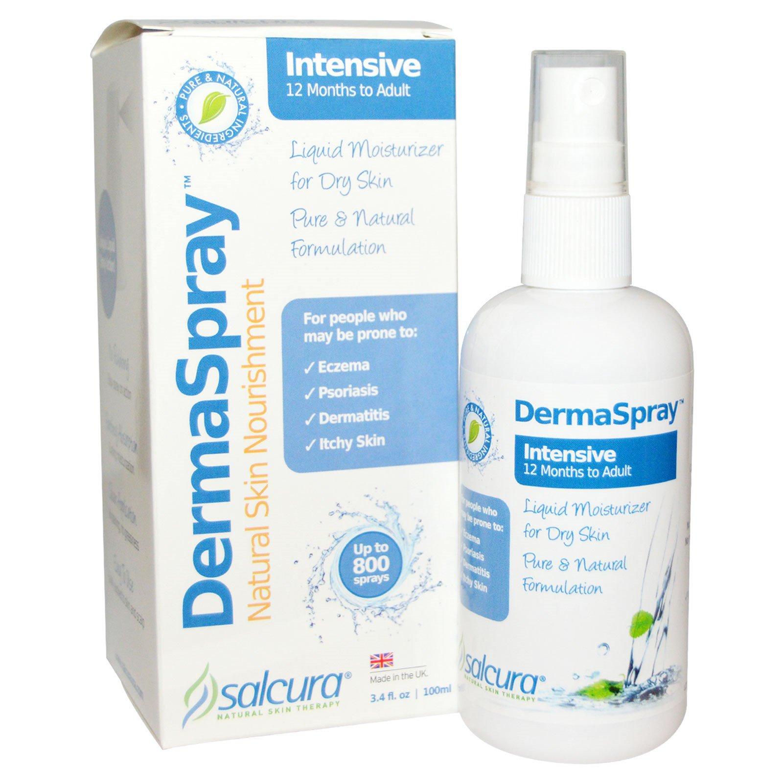 Salcura, DermaSpray, Природное питание кожи, интенсивный крем, 3,4 жидких унций (100 мл)