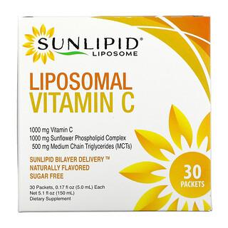 SunLipid,  ليبوسومال فيتامين سي، بنكهات طبيعية، 30 عبوة، 0.17 أونصة (5.0 ملل) لكل عبوة