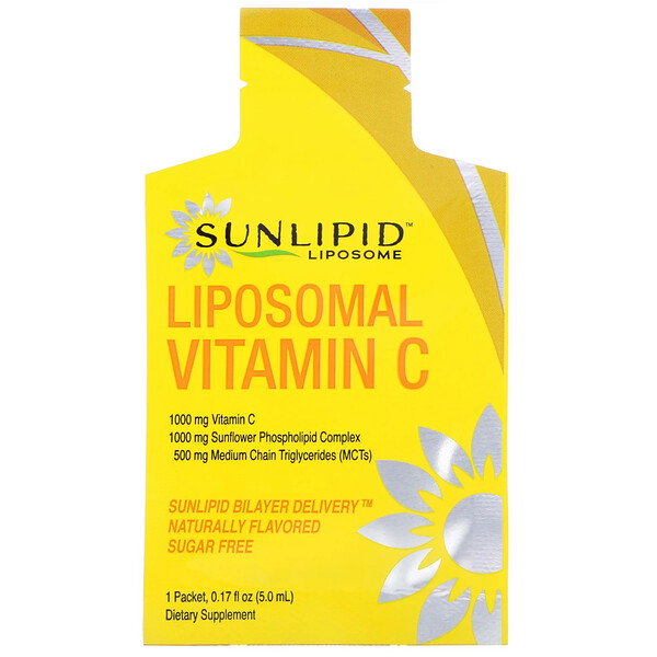 Vitamina C liposomal, Sabor natural, 30 sobres, 5,0 ml (0,17 oz) cada uno