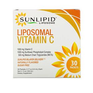 SunLipid, Liposomal Vitamin C, Naturally Flavored, 30 Packets, 0.17 oz (5.0 ml) Each отзывы покупателей