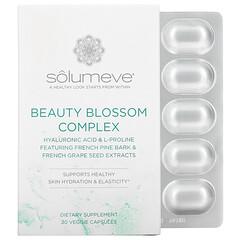 Solumeve, مركب زهور الجمال، يعزز ترطيب البشرة وانتاج الكولاجين، 30 كبسولة نباتية