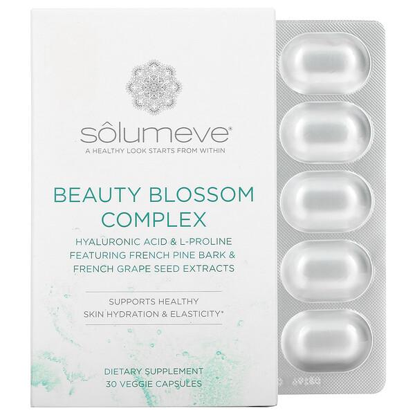 Solumeve, Complexe BeautyBlossom, Hydratation de la peau et production de collagène, 30capsules végétariennes