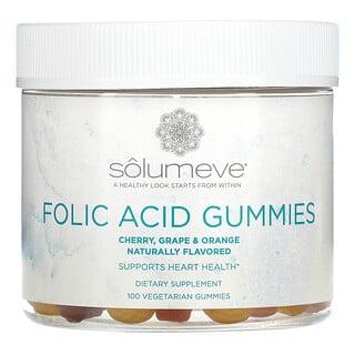 Solumeve, Folic Acid Gummies, Gelatin Free, Assorted Flavors, 100 Vegetarian Gummies