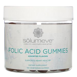 Solumeve, Folic Acid Gummies, Gelatin Free, Assorted Flavors, 100 Vegetarian Gummies отзывы