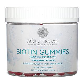 Solumeve, 生物維生素素食軟糖,無明膠,草莓味,10,000 微克,100 粒素食軟糖