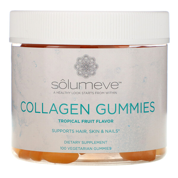 Collagen Gummies, Gelatin Free, Tropical Fruit Flavor, 100 Gummies