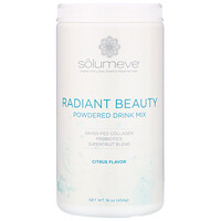 Solumeve, Radiant Beauty, Grass-Fed Collagen, Probiotics & Superfruits Powdered Drink Mix, Citrus, 16 oz (454 g)